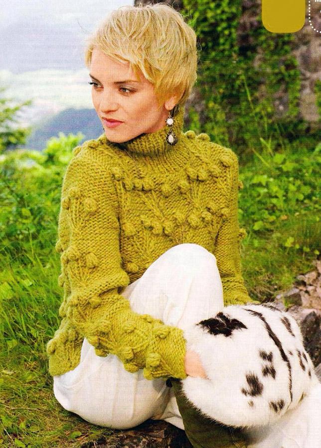 Вязаные женские свитера под горло