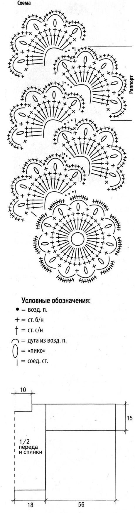 Топы из ленточного кружева крючком со схемами