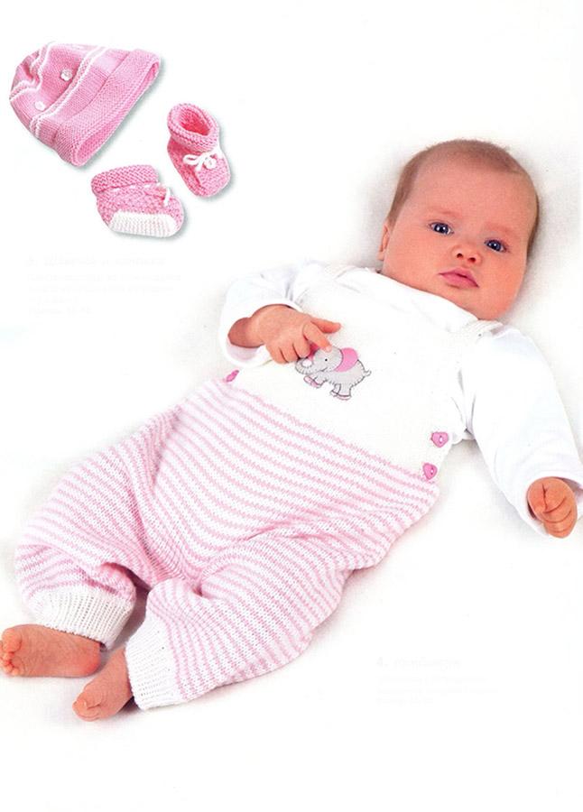 Вязание спицами для новорожденных костюмчик