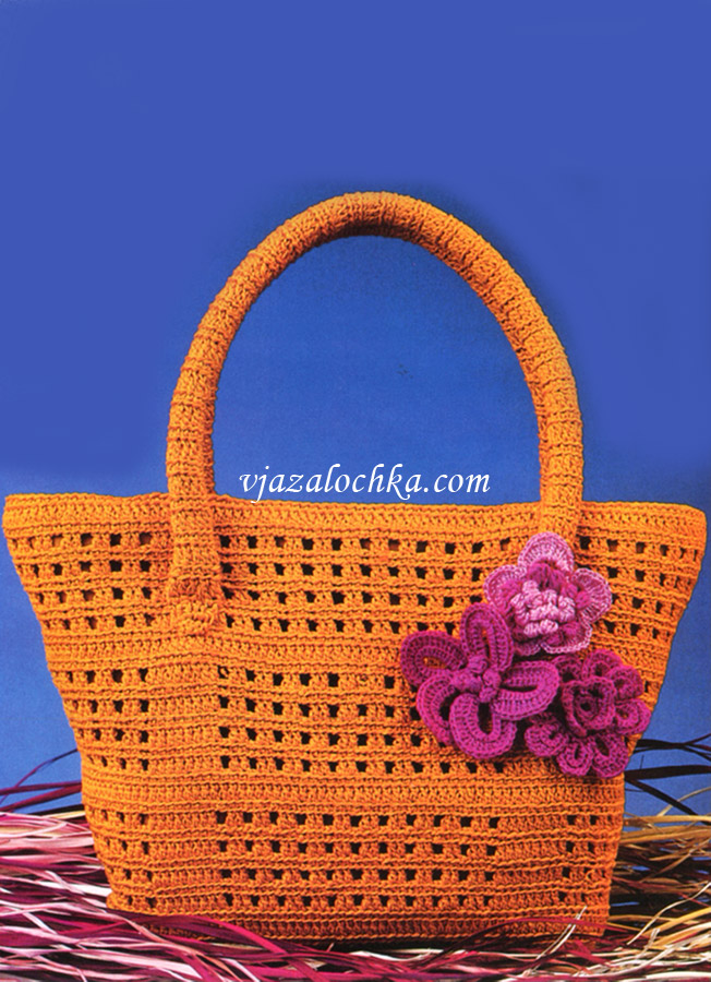 Пляжная сумка с цветами