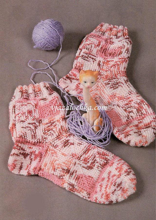 Носки в стиле пэчворк
