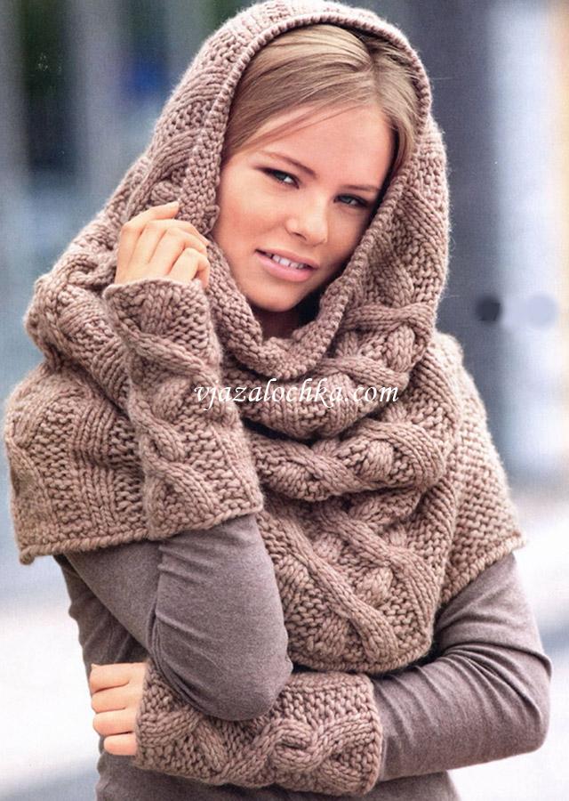 как связать шарф снуд<br />