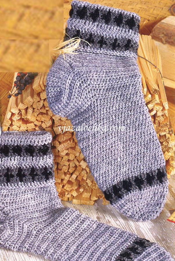 Мужские носки связанные