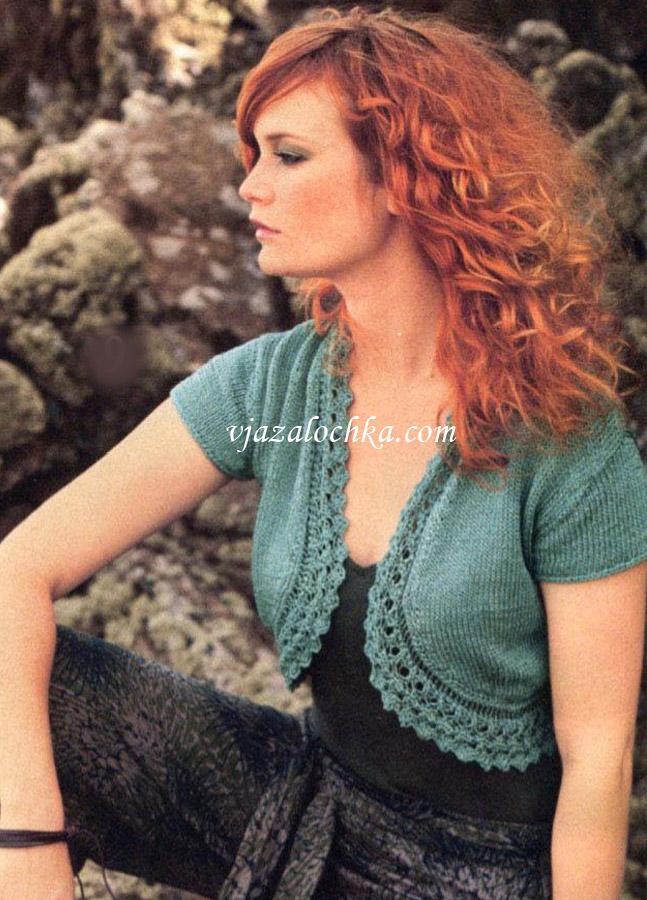 Болеро крючком для девочки - четыре модели для вязания. . Рубрика: схему смотрите по ссылке с фото