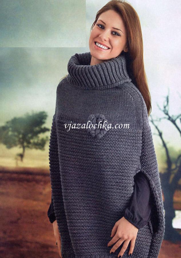 Вязание для женщин.Пончо