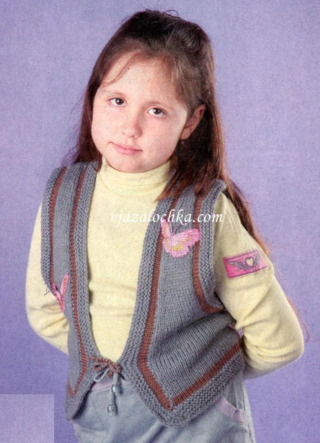 Вязание жилета для девочки