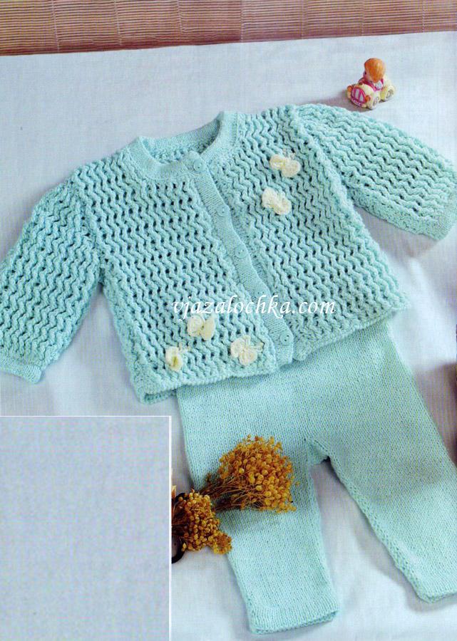 Вязание для новорожденых штанишки