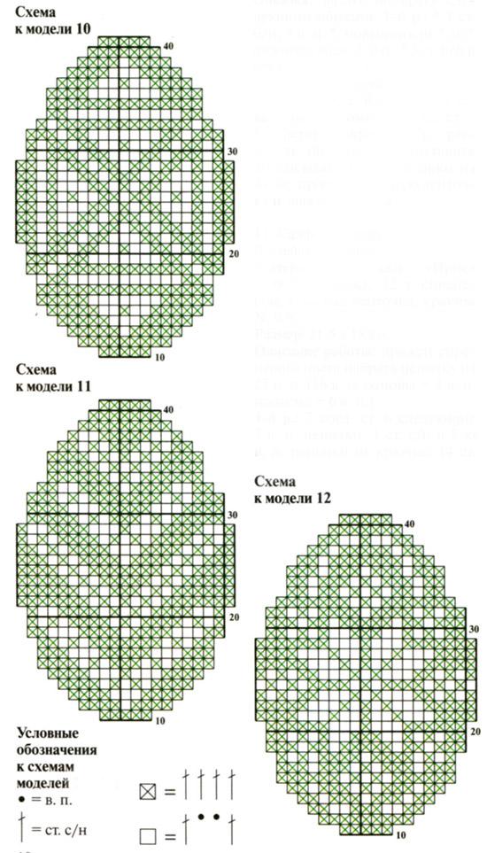 салфетки крючком схемы к пасхи