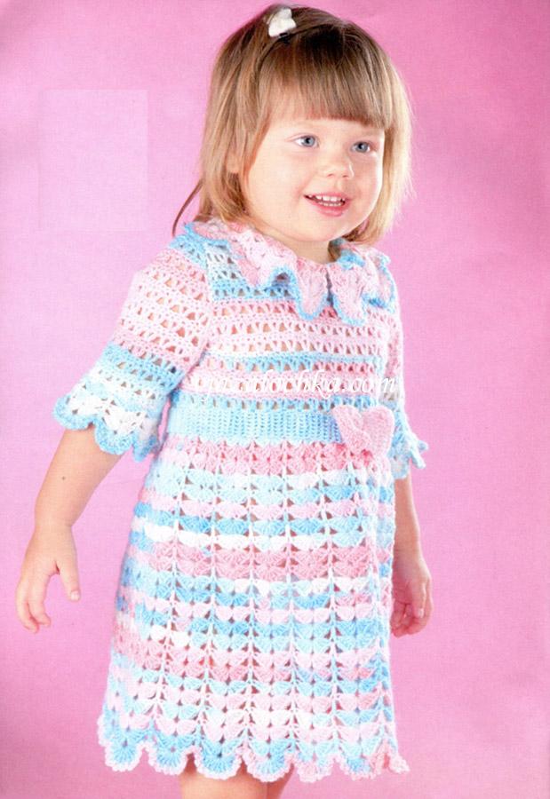 Ажурное платье с короткими