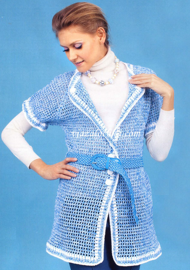 Вязание крючком Crochet. кардиганы вязаные крючком и спицами и. Ladies
