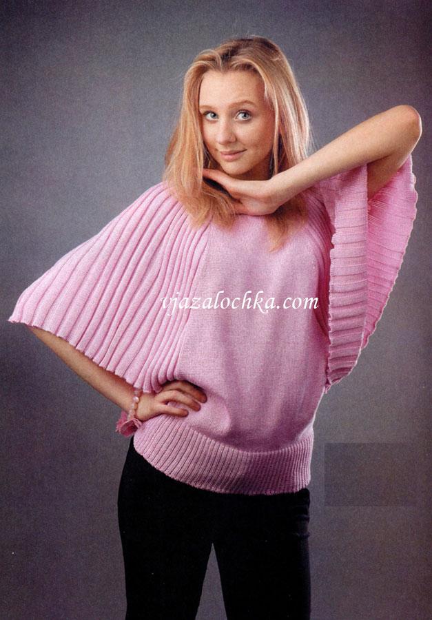 Пуловер вязание летучая мышь 42