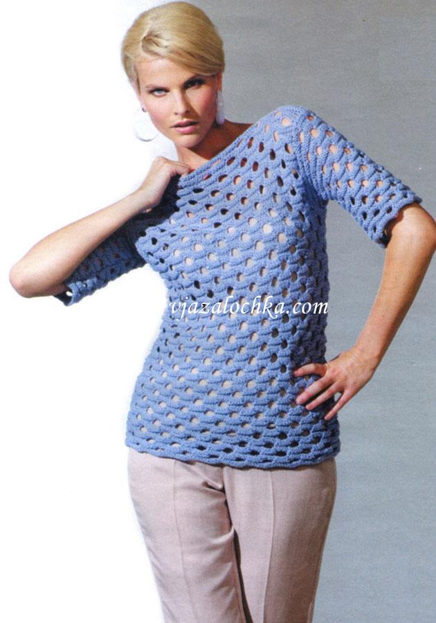 Схемы вязания ажурных платьев для женщин