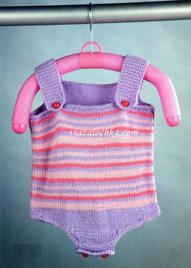 Вязание боди для новорожденных Вязание спицами для детей 54