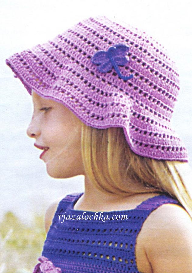 Вязание летние шляпки для девочек 164