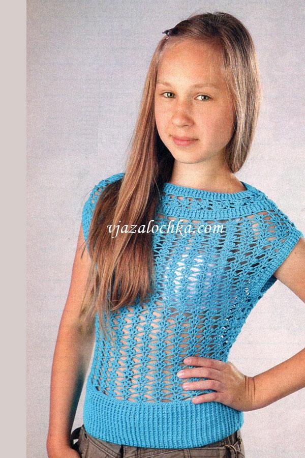 Голубой топ для девочки