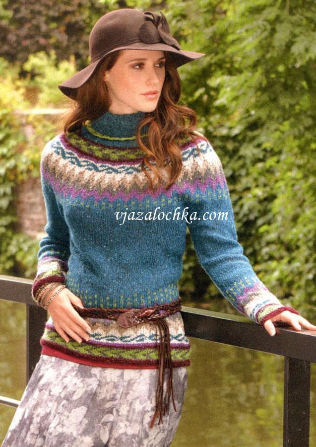 Жаккардовые свитера женские