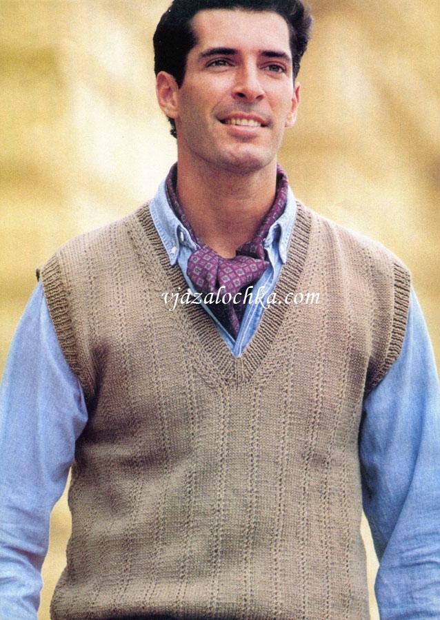 вязанные свитера спицами v образный вырез горловины схема вязания