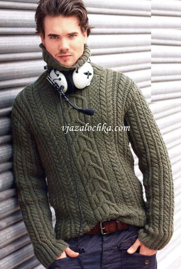 Мужской свитер из узора с