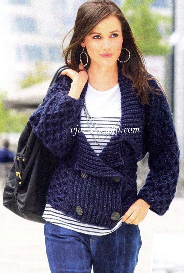 Вязание для женщин. Вязание спицами. Блейзер