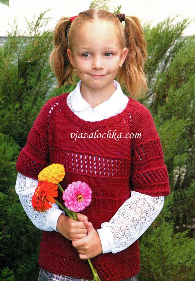 Вязание свитера сверху для детей