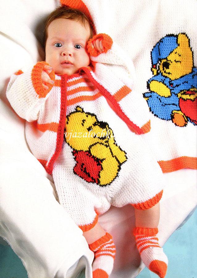 Вязание рисунков для новорожденных