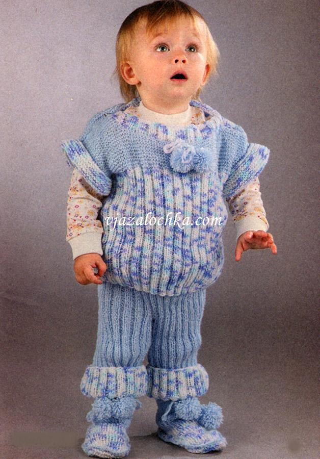 вязание новорожденным спицами комплекты