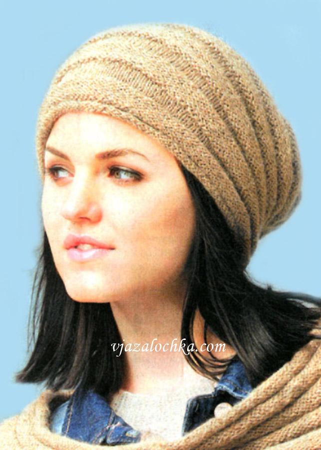 Вязаные шапки спицами от Magicdoll | Мисс