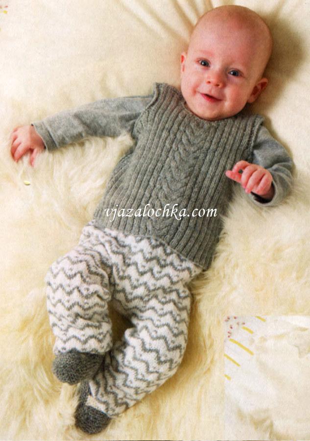 Жилет и штанишки на малыша