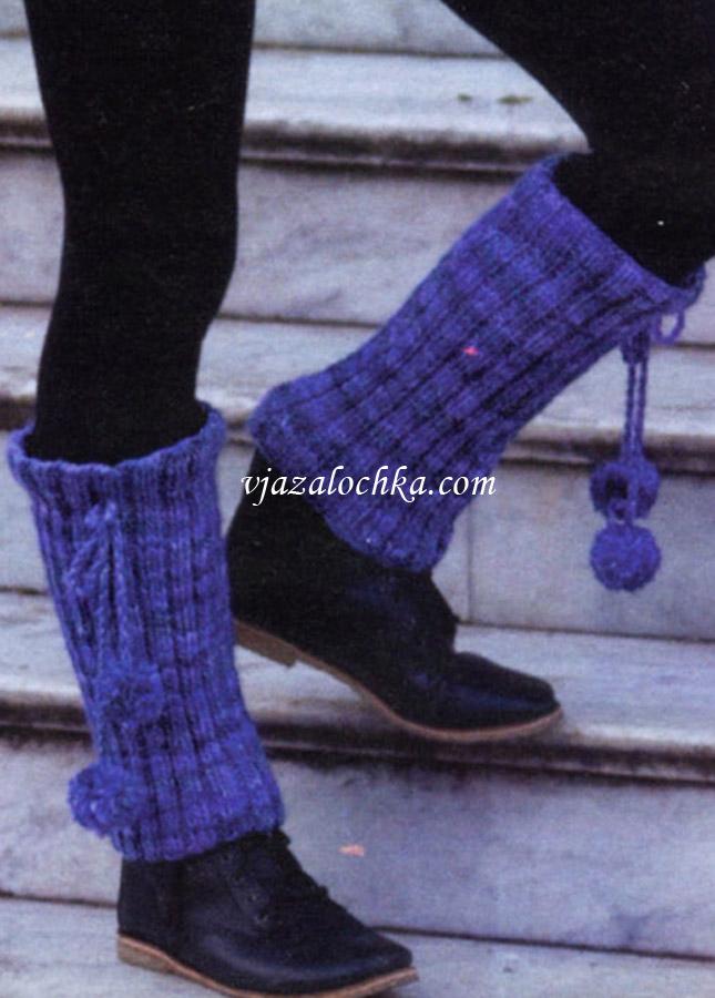 вязаные гетры на обувь схемы, Вязаные.