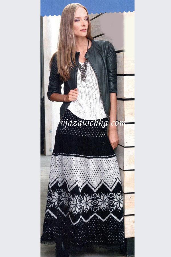 юбка крючком черная схема