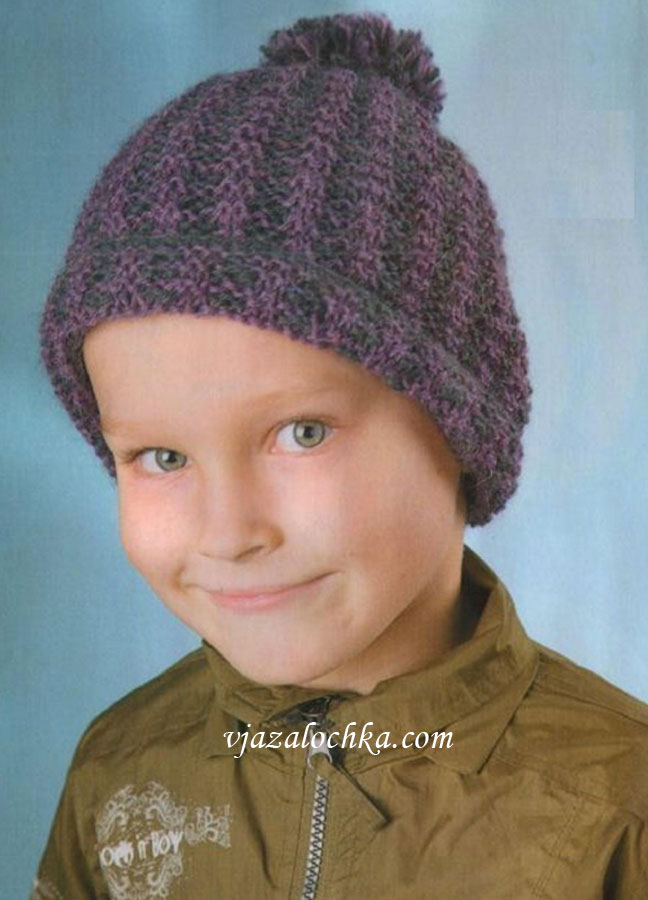 Как связать шапочку детской вязкой