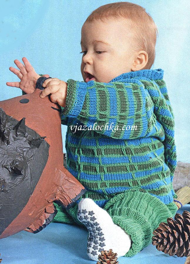 Вязание спицами для малыша 6 месяцев