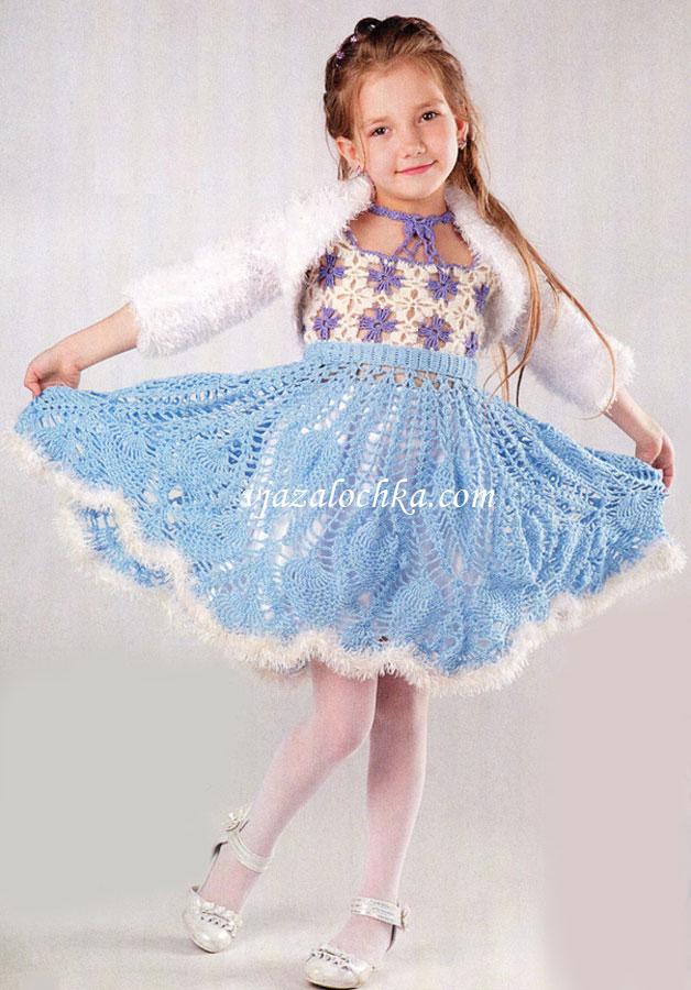 Вязаный новогодний костюм для девочки 1