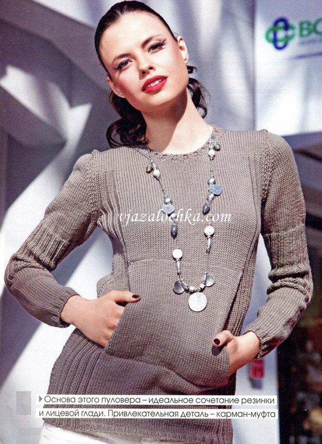 Вязание спицами для женщин. Пуловер