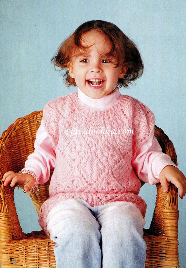 Детский жилет с ажурным узором