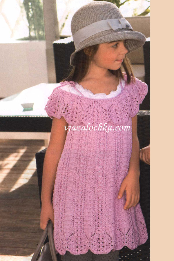 Вяжем платья для девочек