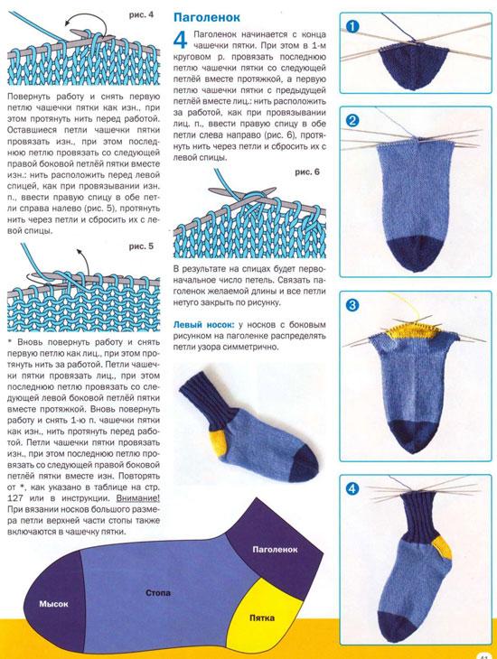 вязание носков на двух спицах для начинающих современной детской одежды