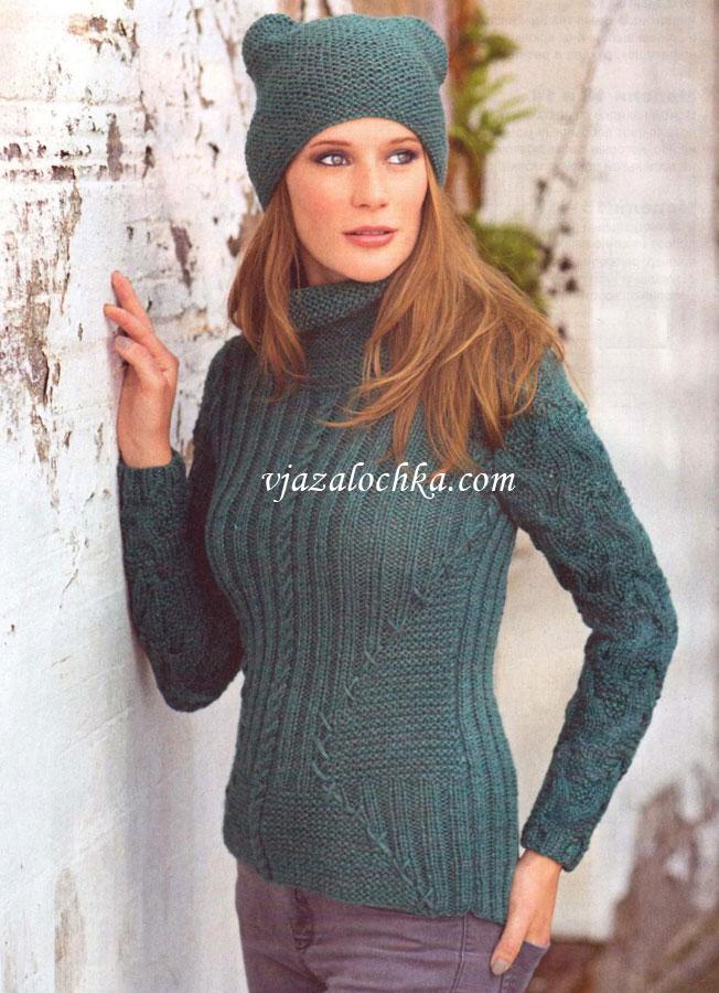 Вязание модная молодежная шапка