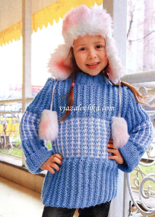 Свитер для девочки спицами » Петля - вязание на все случаи жизни