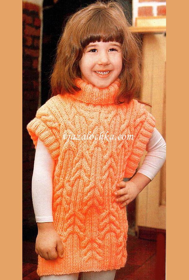 уроки вязания жилетка спицами девочке