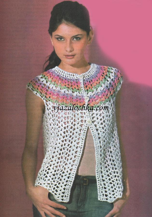 Вязание жилетка для подростка