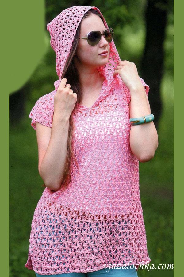 Ажурные платья с капюшоном