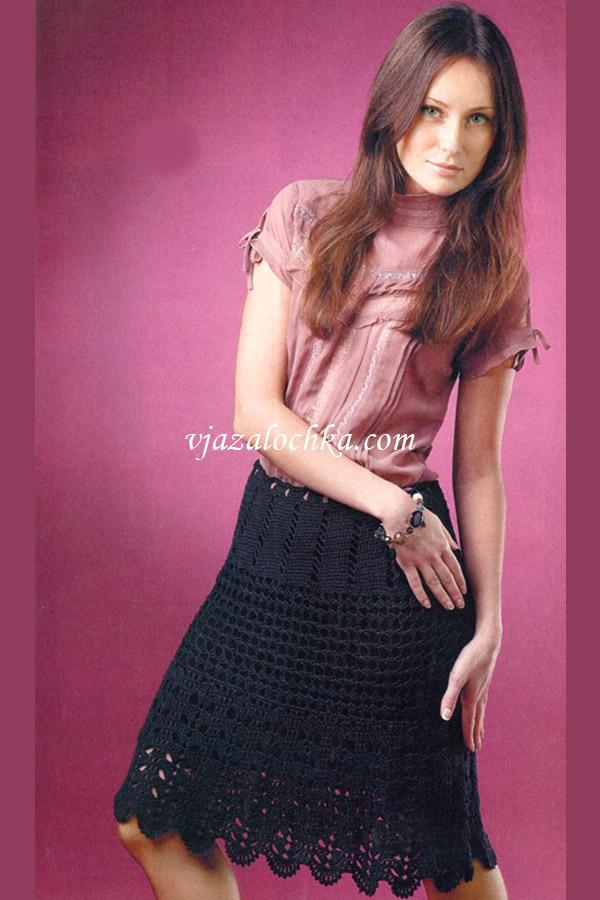 Вязаная женская юбка