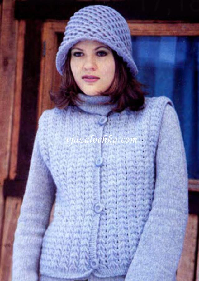 схема вязания пальто и кардигана спицами.