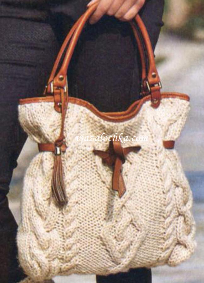 36 идей сумок спицами чудесные