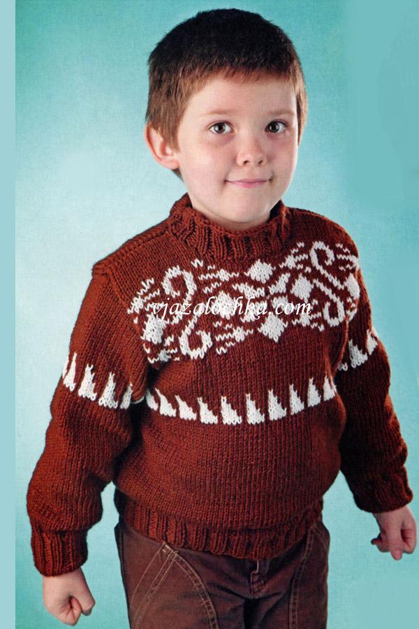 Детский свитер с жаккардовым