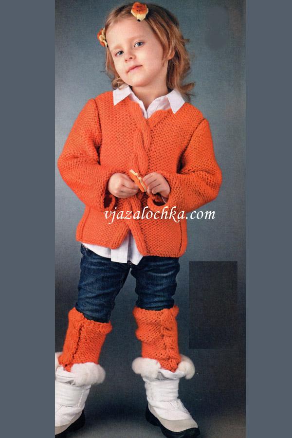 Свитер для девочки спицами: модель