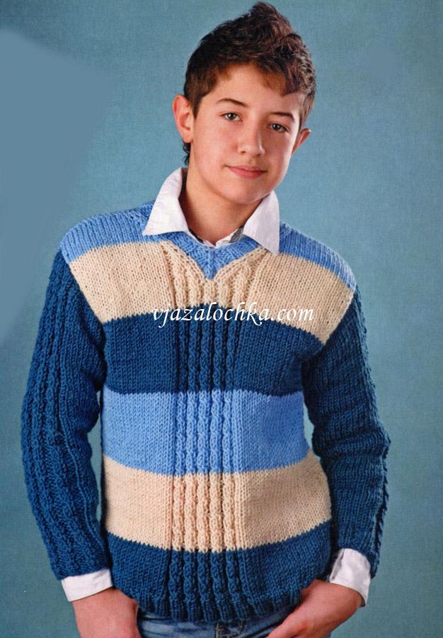 Вязание для мальчика подростка свитера 70