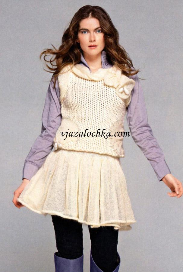 Короткая юбка с кокеткой