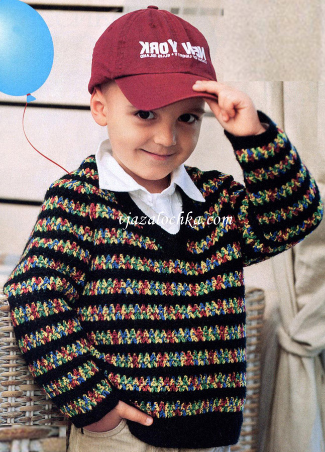 Вязаный пуловер-реглан для мальчика